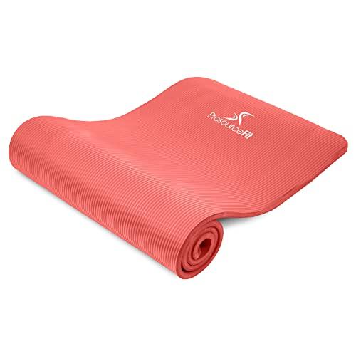 """ヨガマット フィットネス ps-2001-mat-red-ffp ProsourceFit Extra Thick Yoga and Pilates Mat ?"""" (13mm), 71-inch Long High Density Exercise Mat with Comfort Foam and Carrying Strap, Redヨガマット フィットネス ps-2001-mat-red-ffp"""
