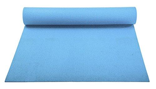 ヨガマット フィットネス YogaAccessories 1/8'' Lightweight Classic Yoga Mat and Exercise Pad - Light Blueヨガマット フィットネス