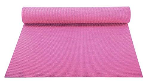 ヨガマット フィットネス 【送料無料】YogaAccessories 1/8'' Lightweight Classic Yoga Mat and Exercise Pad (Pink)ヨガマット フィットネス