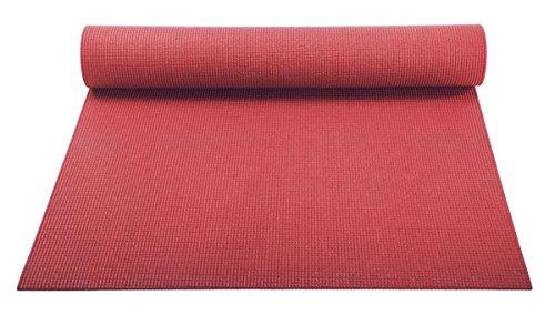 ヨガマット フィットネス 【送料無料】YogaAccessories 1/8'' Lightweight Classic Yoga Mat and Exercise Pad - Redヨガマット フィットネス