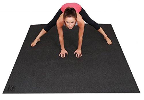 """ヨガマット フィットネス Square36 Large Yoga Mat 6 Ft x 6 Ft (72""""x72""""). Premium Big Yoga Mat Designed for Barefoot Home Yoga, Meditation, Pilates and Rehabilitation. 3X Wide and Long Non-Toxic, Non-Slip Yoga Mat.ヨガマット フィットネス"""