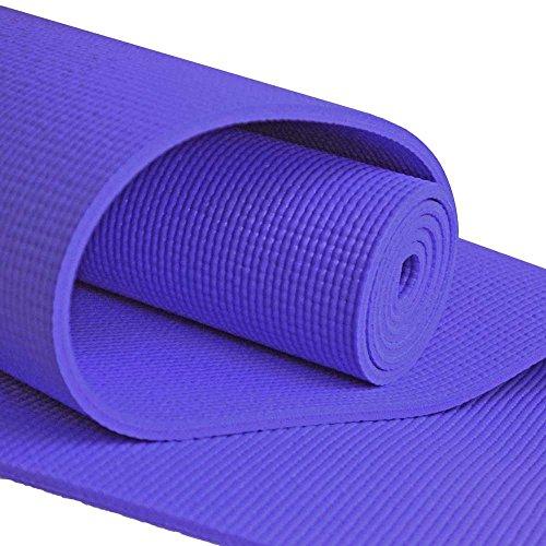 ヨガマット フィットネス YogaAccessories Extra Long 1/4'' Deluxe Yoga Mat - Purpleヨガマット フィットネス