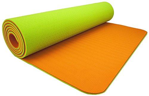 ヨガマット フィットネス MATPE02_VE01 Wacces 72 X 24 x 1/4 - Inch Non-Slip Dual Reversible Yoga Mat - Orange - Greenヨガマット フィットネス MATPE02_VE01