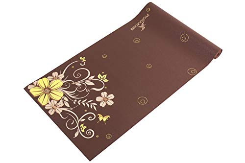 "ヨガマット フィットネス ps-1921-floret Prosource Fit Yoga Mats 3/16"" (5mm) Thick for Comfort & Stability with Exclusive Printed Designsヨガマット フィットネス ps-1921-floret"