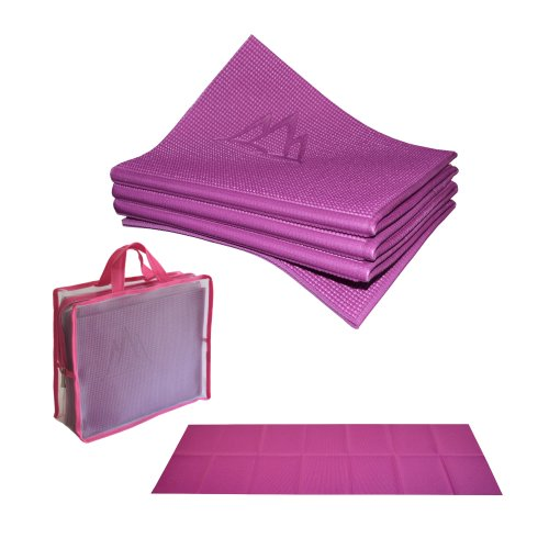 ヨガマット フィットネス YFM-ECEL-682C 【送料無料】Khataland YoFoMat - Best Travel Yoga Mat - Magenta, Extra Long 72