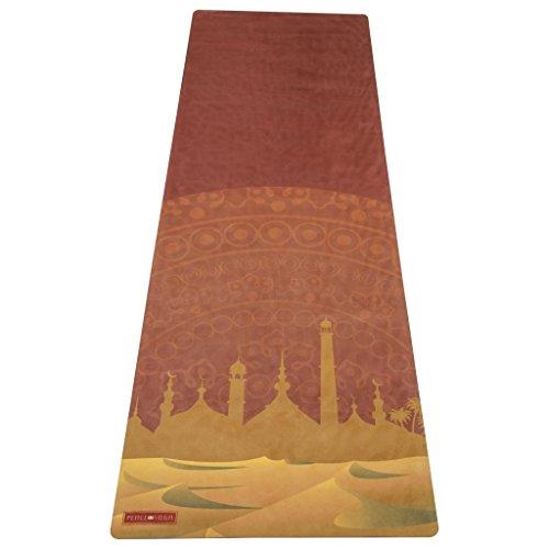 ヨガマット フィットネス Peace Yoga Microfiber Top Hot Yoga Mat Mirageヨガマット フィットネス