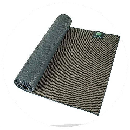 ヨガマット フィットネス KU4HYMON Kulae The Elite Hot Hybrid Yoga Mat (Onyx/Black, 4-mm x 72 x 24-Inch)ヨガマット フィットネス KU4HYMON