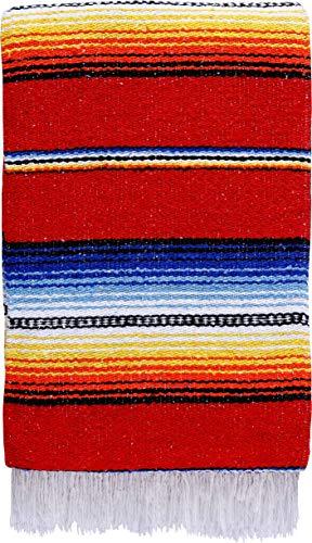 ヨガマット フィットネス ONWRB-RED 【送料無料】El Paso Designs Made in Mexico Classic Mexican Hand Woven Serape Yoga Blanket - 78