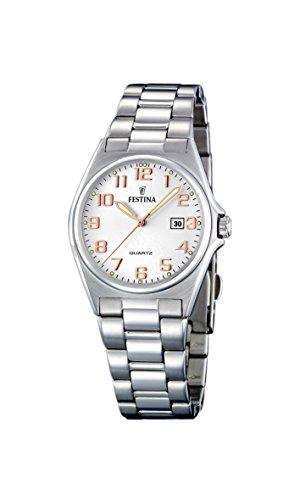腕時計 フェスティナ フェスティーナ スイス レディース 【送料無料】Festina Women's Quartz Watch with Stainless Steel Strap, Silver, 17 (Model: F16375/7)腕時計 フェスティナ フェスティーナ スイス レディース