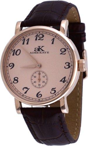 アディーケイ 腕時計 メンズ アメリカ LA 【送料無料】Adee Kaye #AK9061-MRG Men's Mechanical Rose Gold Tone Stainless Steel Leather Band Analog Watchアディーケイ 腕時計 メンズ アメリカ LA