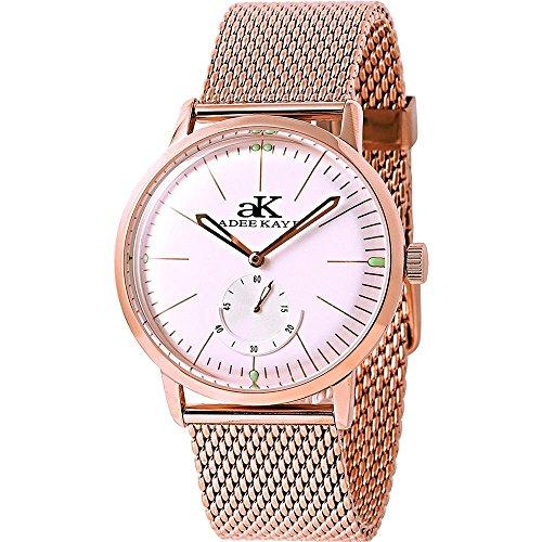 アディーケイ 腕時計 メンズ アメリカ LA 【送料無料】Adee Kaye #AK9044-MRG Men's Retro Vintage Rose Gold Tone Leather Band Automatic Watchアディーケイ 腕時計 メンズ アメリカ LA