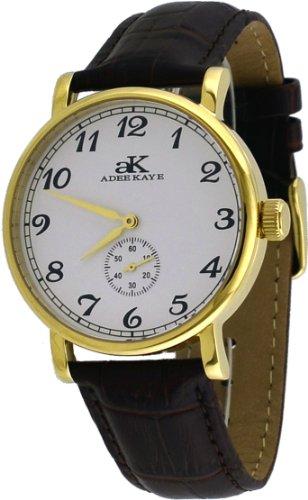 アディーケイ 腕時計 メンズ アメリカ LA 【送料無料】Adee Kaye #AK9061-MG Men's Mechanical Gold Tone Stainless Steel Leather Band Analog Watchアディーケイ 腕時計 メンズ アメリカ LA