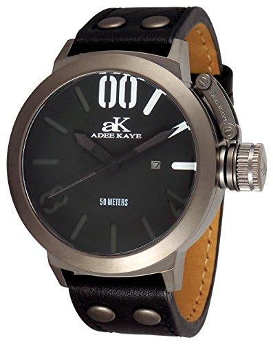 アディーケイ 腕時計 メンズ アメリカ LA 【送料無料】Adee Kaye Men's AK7285-MIPB Analog Display Japanese Quartz Black Watchアディーケイ 腕時計 メンズ アメリカ LA