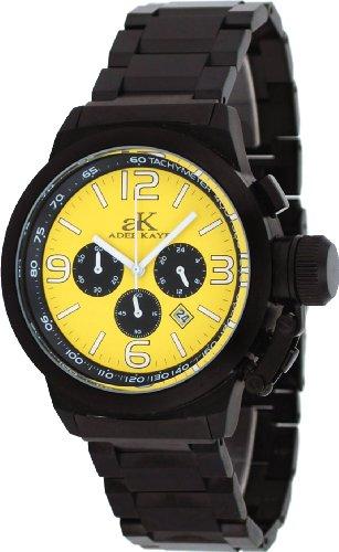 腕時計 アディーケイ メンズ アメリカ LA 【送料無料】Adee Kaye #AK4021-MIPB Men's Black IP Stainless Steel Russian Dive Style Chronograph Watch腕時計 アディーケイ メンズ アメリカ LA