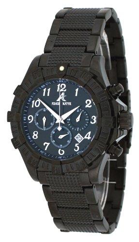 腕時計 アディーケイ メンズ アメリカ LA 【送料無料】Adee Kaye #AK7140-MIPB Men's Black IP Stainless Steel Black Dial Chronograph Watch腕時計 アディーケイ メンズ アメリカ LA