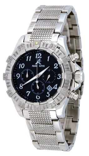 腕時計 アディーケイ メンズ アメリカ LA 【送料無料】Adee Kaye #AK7140-M Men's Stainless Steel Black Dial Chronograph Watch腕時計 アディーケイ メンズ アメリカ LA