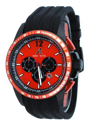 アディーケイ 腕時計 メンズ アメリカ LA 【送料無料】Adee Kaye #AK7141-MIPB4 Men's Black IP Polyurethane Strap Chronograph Watchアディーケイ 腕時計 メンズ アメリカ LA