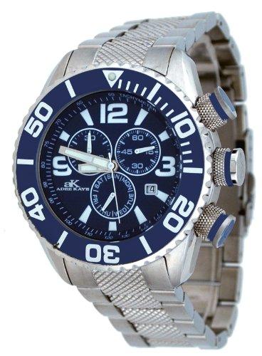 アディーケイ 腕時計 メンズ アメリカ LA Adee Kaye Stainless Steel Chronograph AK5434-M-2アディーケイ 腕時計 メンズ アメリカ LA