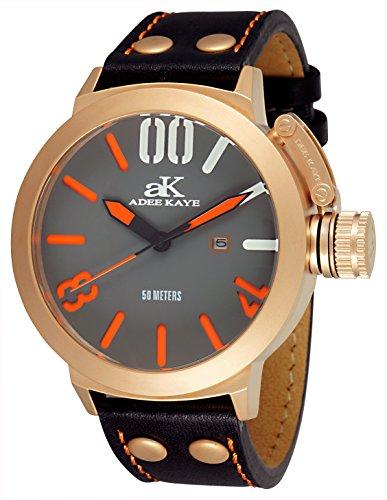 アディーケイ 腕時計 メンズ アメリカ LA 【送料無料】Adee Kaye Men's AK7285-MRG Analog Display Japanese Quartz Black Watchアディーケイ 腕時計 メンズ アメリカ LA