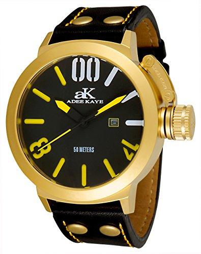 アディーケイ 腕時計 メンズ アメリカ LA 【送料無料】Adee Kaye Men's AK7285-MG Analog Display Japanese Quartz Black Watchアディーケイ 腕時計 メンズ アメリカ LA