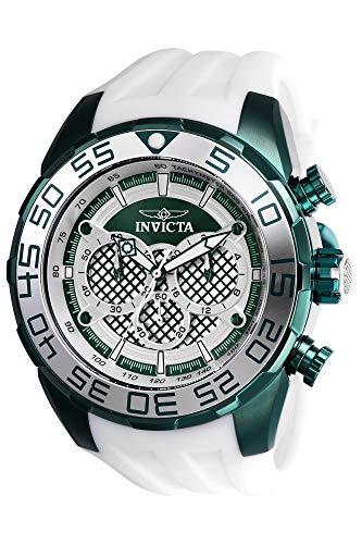 """インヴィクタ インビクタ スピードウェイ 腕時計 メンズ 【送料無料】Invicta Men""""s Speedway Stainless Steel Quartz Watch with Silicone Strap, White, 32 (Model: 26313)インヴィクタ インビクタ スピードウェイ 腕時計 メンズ"""