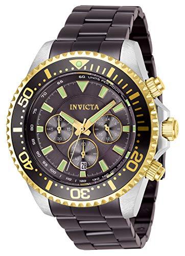 インヴィクタ インビクタ プロダイバー 腕時計 メンズ Invicta Men's Pro Diver Quartz Watch with Stainless Steel Strap, Light Brown, 22 (Model: 27477)インヴィクタ インビクタ プロダイバー 腕時計 メンズ