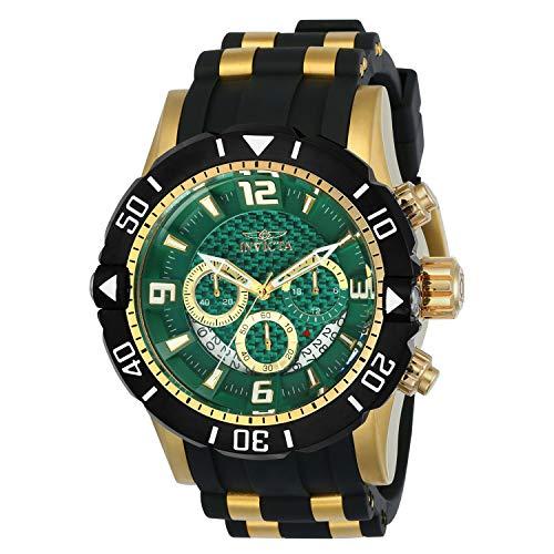 インヴィクタ インビクタ プロダイバー 腕時計 メンズ Invicta 23703 Mens Pro Diver Quartz Chronograph Green Dial Watch with Black & Gold Toneインヴィクタ インビクタ プロダイバー 腕時計 メンズ
