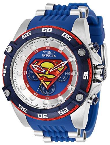 インヴィクタ インビクタ 腕時計 メンズ 【送料無料】Invicta Men's DC Comics Stainless Steel Quartz Watch with Silicone Strap, Blue, 26 (Model: 29121)インヴィクタ インビクタ 腕時計 メンズ