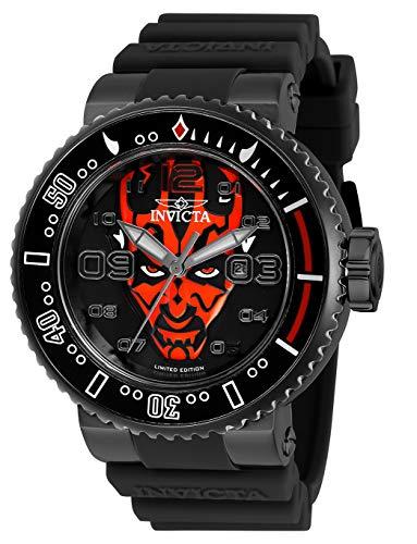インヴィクタ インビクタ 腕時計 メンズ Invicta Men's Star Wars Stainless Steel Quartz Watch with Silicone Strap, Black, 29.8 (Model: 27670)インヴィクタ インビクタ 腕時計 メンズ