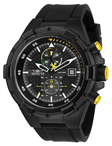 インヴィクタ インビクタ 腕時計 メンズ Invicta Men's Aviator Stainless Steel Quartz Silicone Strap, Black, 26 Casual Watch (Model: 28103)インヴィクタ インビクタ 腕時計 メンズ