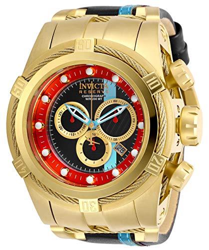 インヴィクタ インビクタ 腕時計 メンズ 【送料無料】Invicta Men's Reserve Stainless Steel Quartz Watch with Leather Calfskin Strap, Black, 30.5 (Model: 29053)インヴィクタ インビクタ 腕時計 メンズ