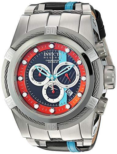 インヴィクタ インビクタ 腕時計 メンズ 【送料無料】Invicta Men's Reserve Stainless Steel Quartz Watch with Leather-Synthetic Strap, Black, 25.6 (Model: 26471)インヴィクタ インビクタ 腕時計 メンズ