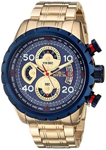 インヴィクタ インビクタ 腕時計 メンズ Invicta Men's Aviator Quartz Stainless-Steel Strap, Gold, 22.9 Casual Watch (Model: 28148)インヴィクタ インビクタ 腕時計 メンズ