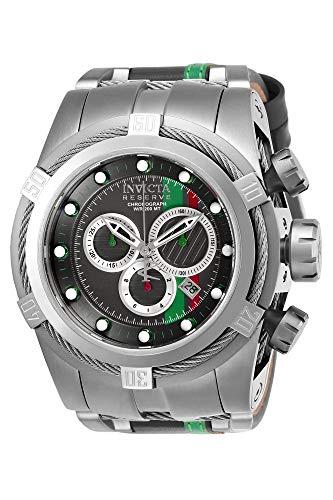 インヴィクタ インビクタ 腕時計 メンズ 【送料無料】Invicta Men's Reserve Stainless Steel Quartz Watch with Leather-Synthetic Strap, Grey, 27 (Model: 26470)インヴィクタ インビクタ 腕時計 メンズ