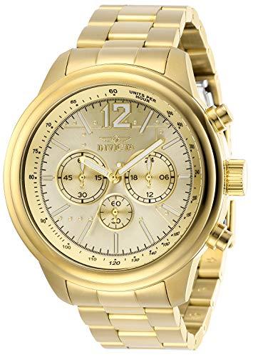 インヴィクタ インビクタ 腕時計 メンズ Invicta Men's Aviator Quartz Watch with Stainless Steel Strap, Gold, 22 (Model: 28898)インヴィクタ インビクタ 腕時計 メンズ