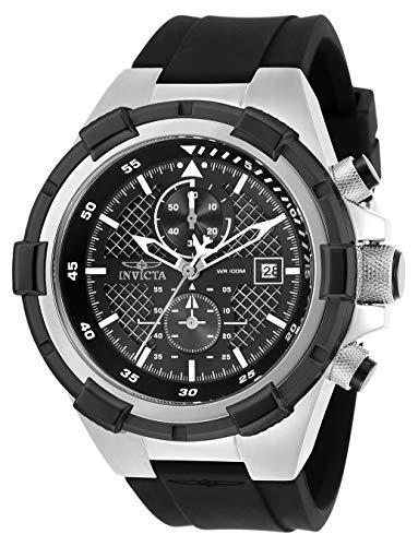 腕時計 インヴィクタ インビクタ メンズ 【送料無料】Invicta Men's Aviator Stainless Steel Quartz Silicone Strap, Black, 26 Casual Watch (Model: 28095)腕時計 インヴィクタ インビクタ メンズ