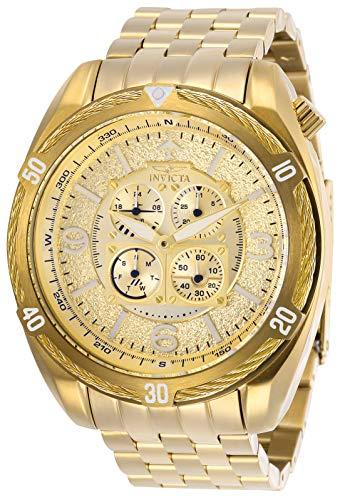 インヴィクタ インビクタ 腕時計 メンズ Invicta Men's Aviator Quartz Watch with Stainless Steel Strap, Gold, 24 (Model: 28088)インヴィクタ インビクタ 腕時計 メンズ