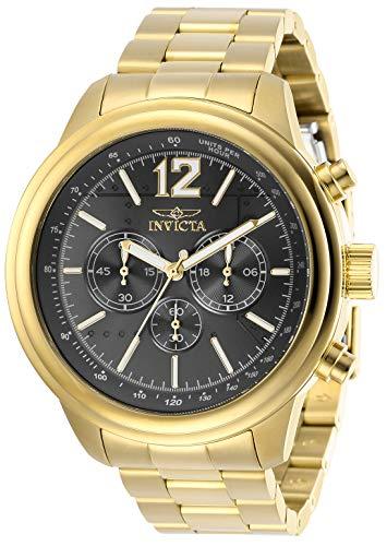 インヴィクタ インビクタ 腕時計 メンズ Invicta Men's Aviator Quartz Watch with Stainless Steel Strap, Gold, 22 (Model: 28900)インヴィクタ インビクタ 腕時計 メンズ