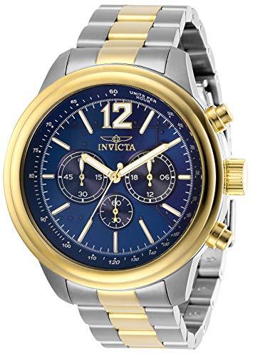 インヴィクタ インビクタ 腕時計 メンズ 【送料無料】Invicta Men's Aviator Quartz Watch with Stainless Steel Strap, Two Tone, 22 (Model: 28897)インヴィクタ インビクタ 腕時計 メンズ