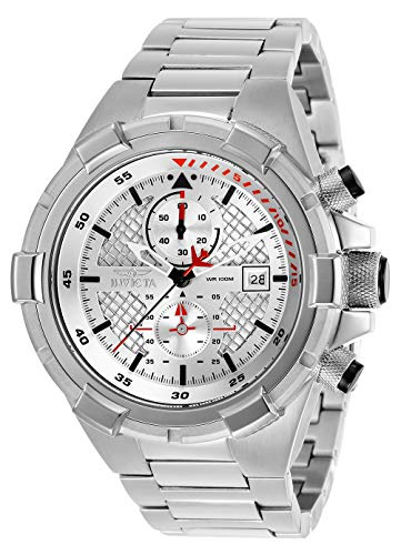インヴィクタ インビクタ 腕時計 メンズ 【送料無料】Invicta Men's Aviator Analog Quartz Watch with Stainless Steel Strap, Silver, 26 (Model: 28107)インヴィクタ インビクタ 腕時計 メンズ