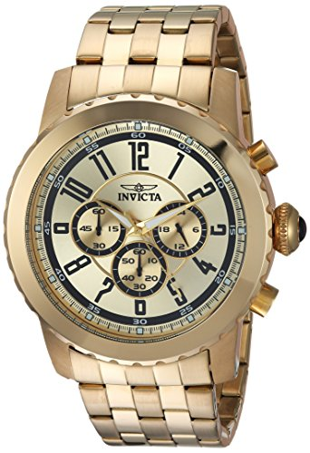 インヴィクタ インビクタ 腕時計 メンズ Invicta Men's Specialty Quartz Watch with Stainless-Steel Strap, Gold, 26 (Model: 19465)インヴィクタ インビクタ 腕時計 メンズ