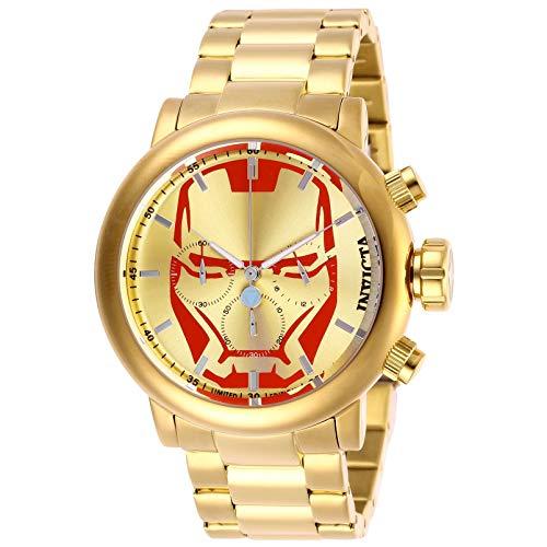 """インヴィクタ インビクタ 腕時計 メンズ 【送料無料】Invicta Marvel Chronograph Gold Dial Men""""s Watch 28146インヴィクタ インビクタ 腕時計 メンズ"""