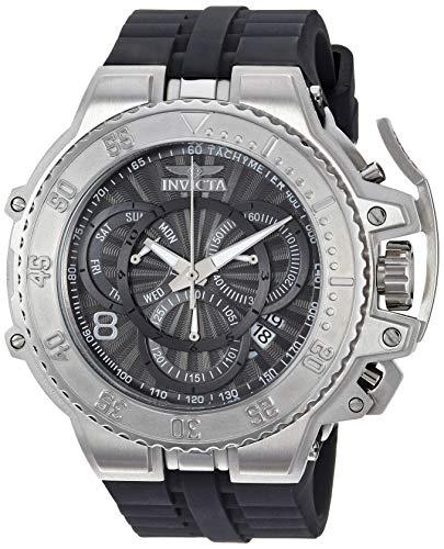 インヴィクタ インビクタ 腕時計 メンズ 【送料無料】Invicta Men's Excursion Stainless Steel Quartz Watch with Silicone Strap, Black, 27.9 (Model: 27502)インヴィクタ インビクタ 腕時計 メンズ