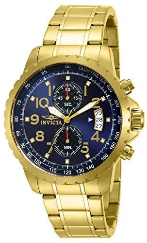 インヴィクタ インビクタ 腕時計 メンズ Invicta Men's 13785 Specialty Chronograph Dark Blue Dial 18k Gold Ion-Plated Stainless Steel Watchインヴィクタ インビクタ 腕時計 メンズ