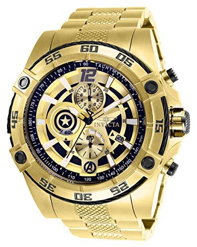 """インヴィクタ インビクタ 腕時計 メンズ 【送料無料】Invicta Men""""s Marvel Quartz Watch with Stainless-Steel Strap, Gold, 26 (Model: 26794)インヴィクタ インビクタ 腕時計 メンズ"""