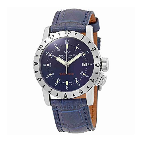 グリシン スイスウォッチ 腕時計 メンズ グライシン 【送料無料】Glycine Airman Double Twelve Automatic Blue Dial Mens Watch GL0235グリシン スイスウォッチ 腕時計 メンズ グライシン