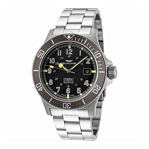 グリシン スイスウォッチ 腕時計 メンズ グライシン 【送料無料】Glycine Combat Sub Automatic Black Dial Mens Watch GL0076グリシン スイスウォッチ 腕時計 メンズ グライシン