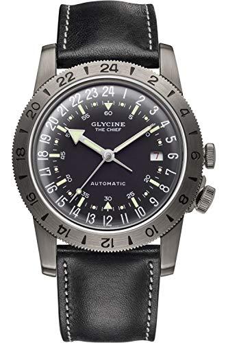 グリシン スイスウォッチ 腕時計 メンズ グライシン 【送料無料】Glycine Airman Mens Analog Swiss Automatic Watch with Leather Bracelet GL0252グリシン スイスウォッチ 腕時計 メンズ グライシン