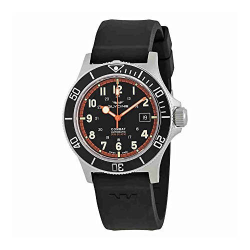 グリシン スイスウォッチ 腕時計 メンズ グライシン 【送料無料】Glycine Combat Sub Automatic Black Dial Mens Rubber Watch GL0088グリシン スイスウォッチ 腕時計 メンズ グライシン