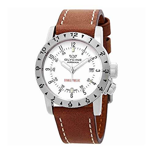 グリシン スイスウォッチ 腕時計 メンズ グライシン 【送料無料】Glycine Airman Double Twelve Automatic White Dial Mens Watch GL0232グリシン スイスウォッチ 腕時計 メンズ グライシン
